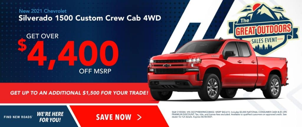 New 2021 Chevrolet Silverado 1500 Custom 4WD