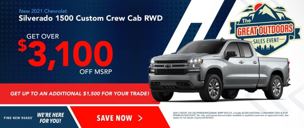 New 2021 Chevrolet Silverado 1500 Custom RWD