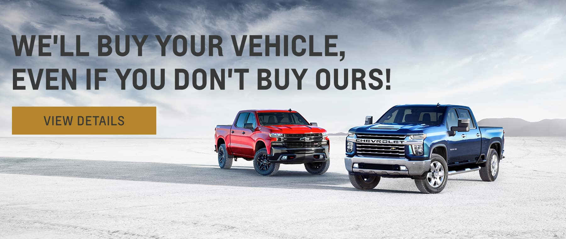We'll buy your vehicle, even if you don't buy ours!,