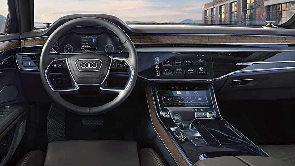 Interior Features of the New Audi A8 at Garber in Rochester, NY