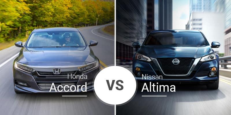 2020 Honda Accord Vs 2020 Nissan Altima
