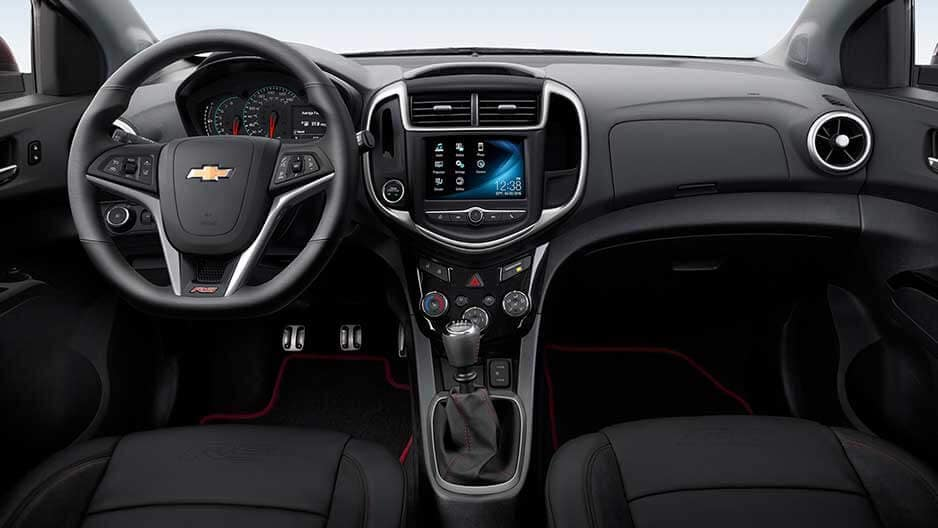 Interior Features of the New Chevrolet Sonic at Garber in Linwood, MI