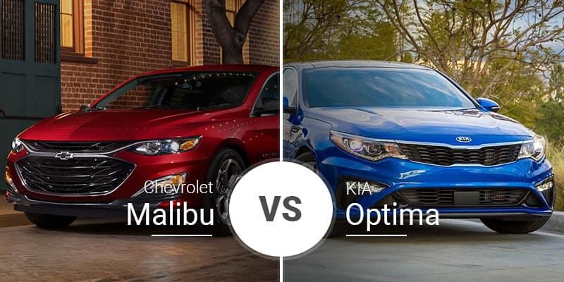 Chevy Malibu Vs Kia Optima Sedan Shootout