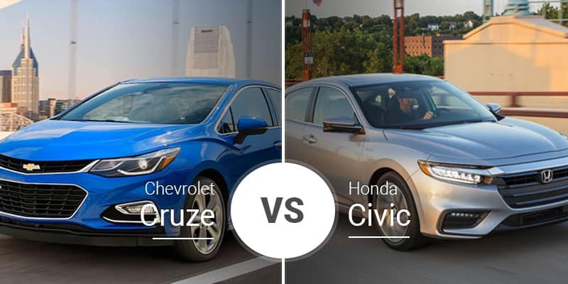 Chevy Cruze Vs Honda Civic Small Footprints Roomy Cabins