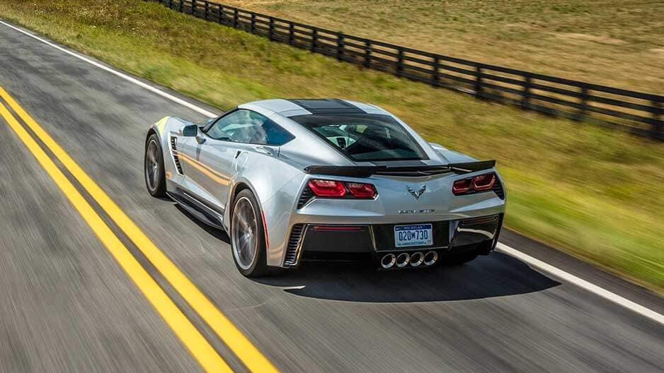 Exterior Features of the New Chevrolet Corvette at Garber in Linwood, MI