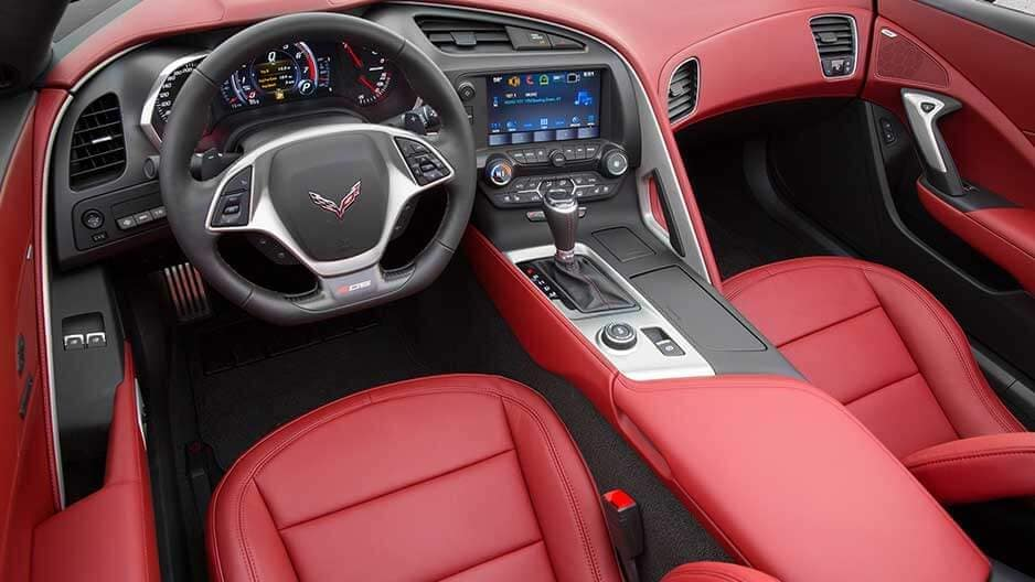Interior Features of the New Chevrolet Corvette at Garber in Linwood, MI