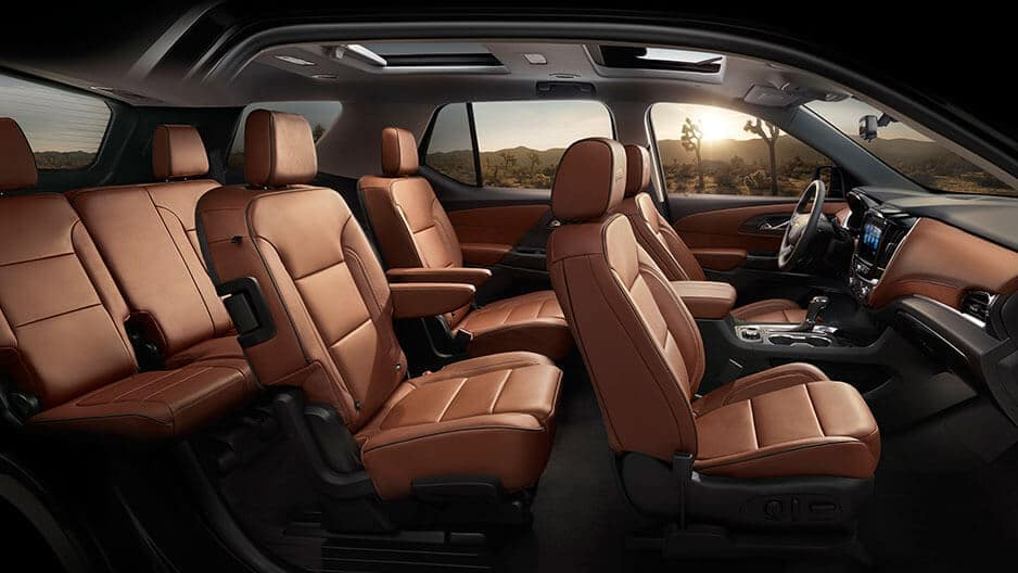 Interior Features of the New Chevrolet Traverse at Garber in Linwood, MI