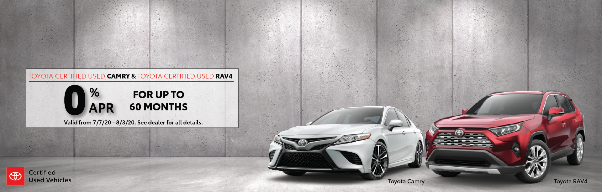 TCUV Camry and RAV4 Offer