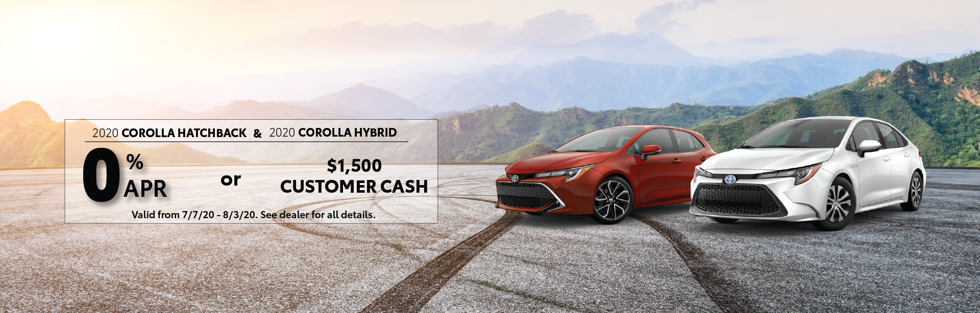 Toyota Corolla Hatchback and Corolla Hybrid Offer