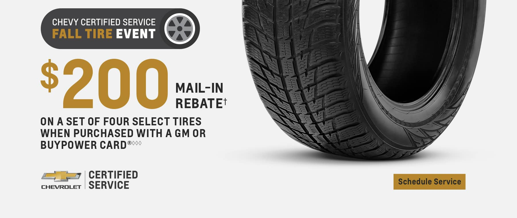Fall Tire Event - $200 mail in rebate
