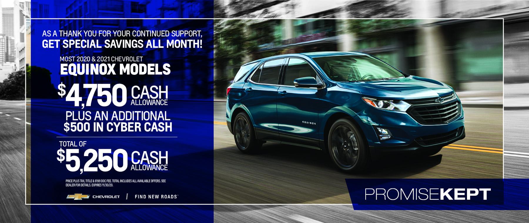 New Chevrolet Equinox - $5,250 cash allowance