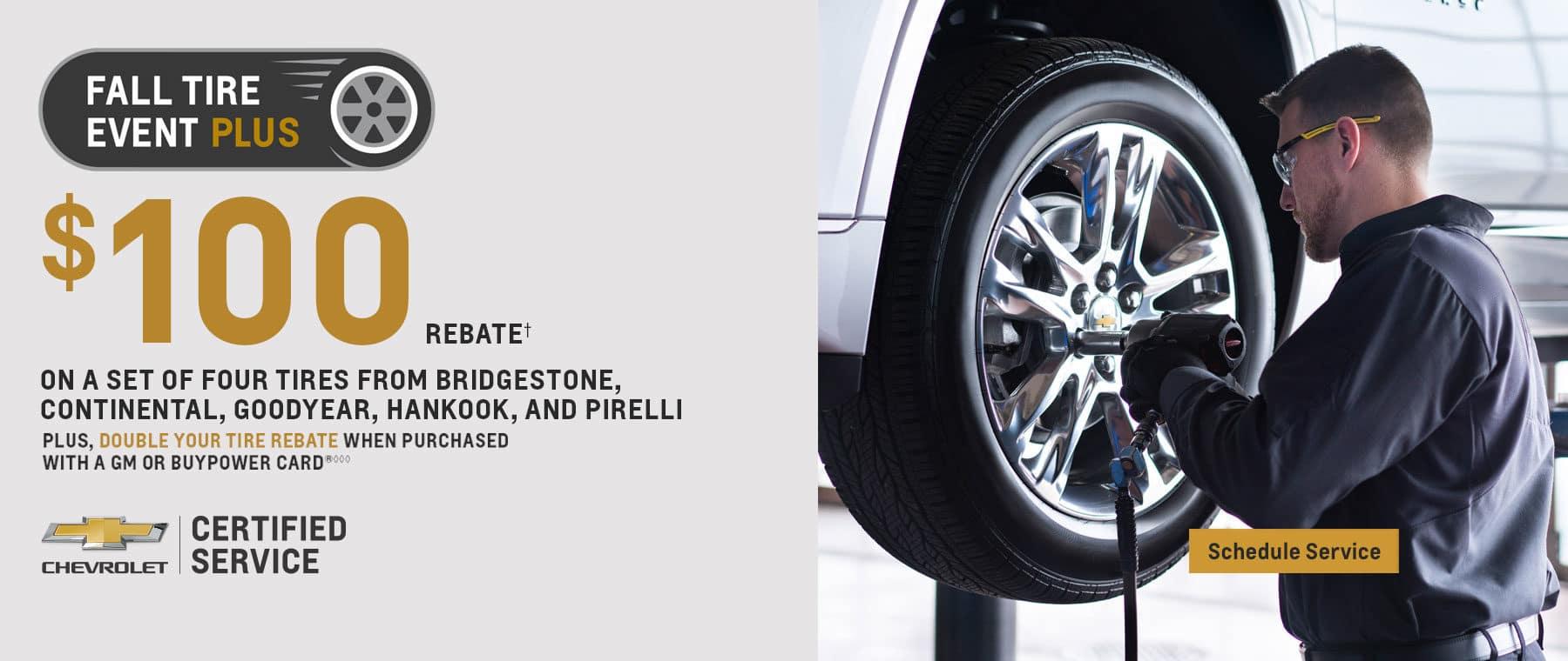 Fall Tire Event $100 Rebate