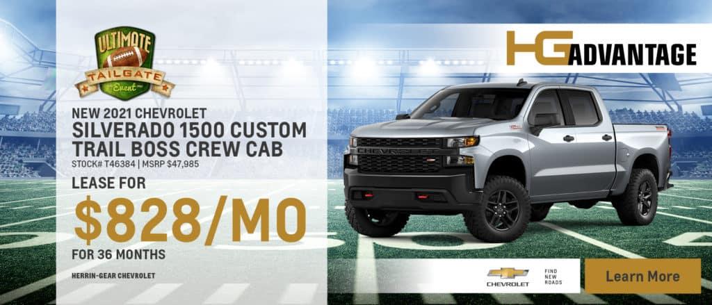 2021 Chevy Silverado 1500 Trail Boss Crew Cab