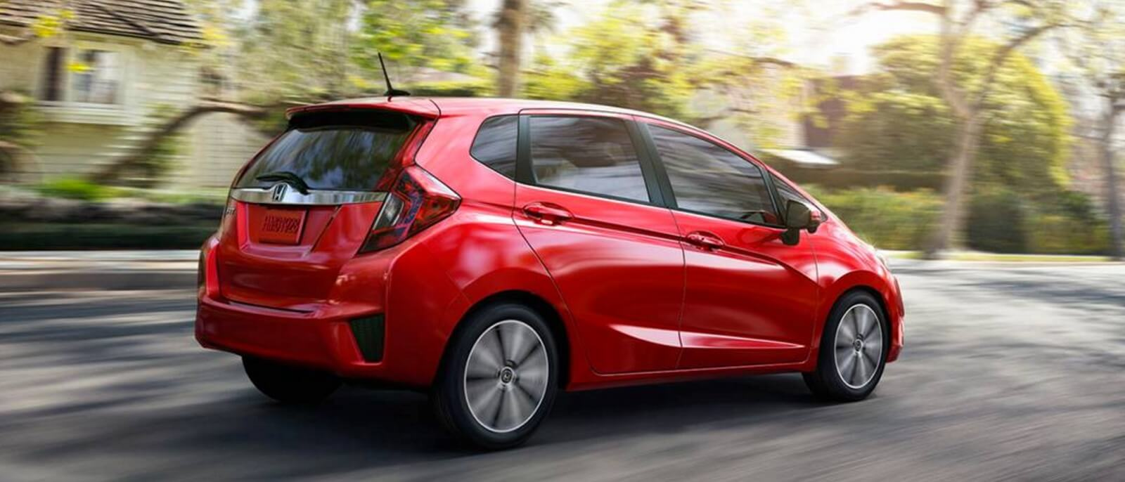 2016 Honda Fit in red side view