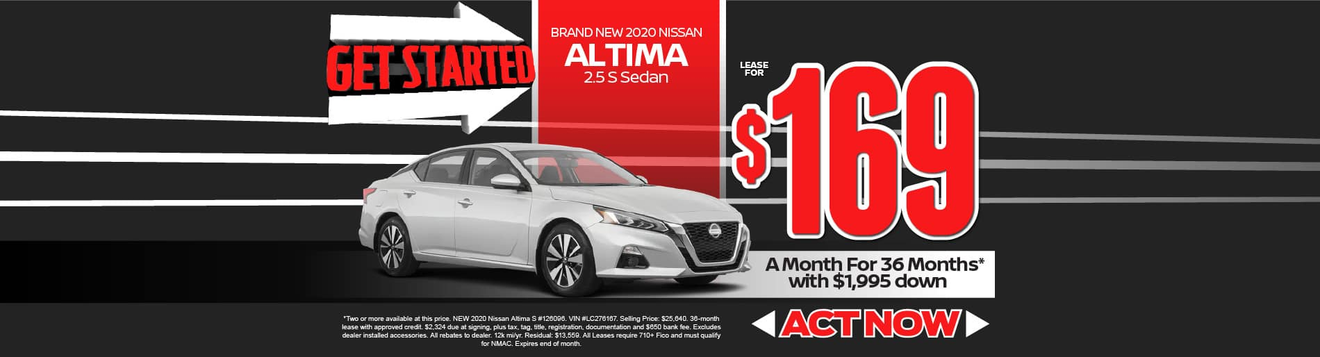 2020 Nissan Altima $169/mo - view inventory