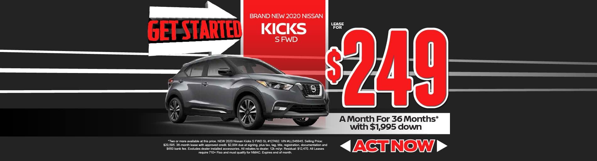 2020 Nissan Kicks $249/mo - view inventory