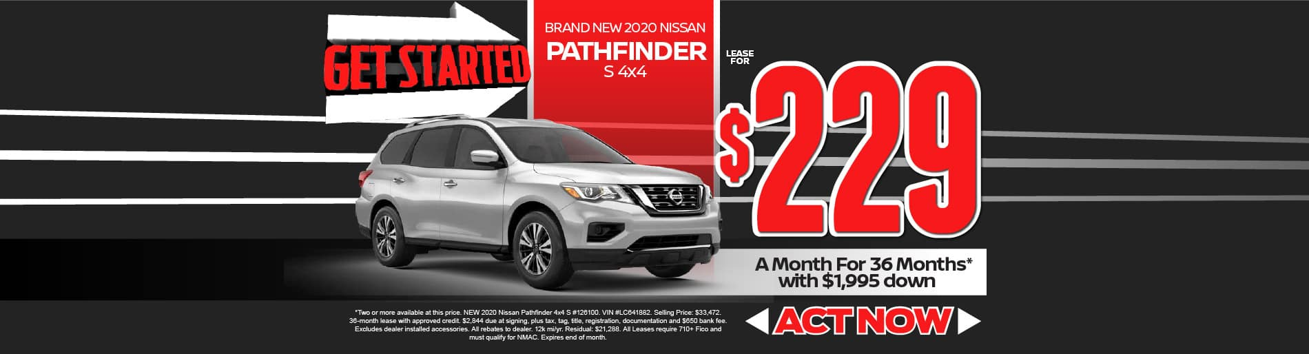 2020 Nissan Pathfinder $229/month - click to view inventory