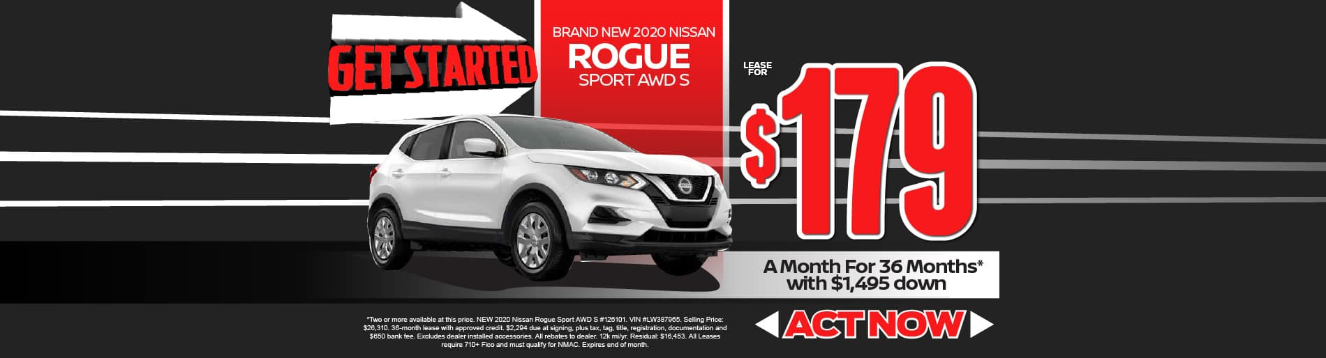 2020 Rogue Sport $179/mo - view inventory