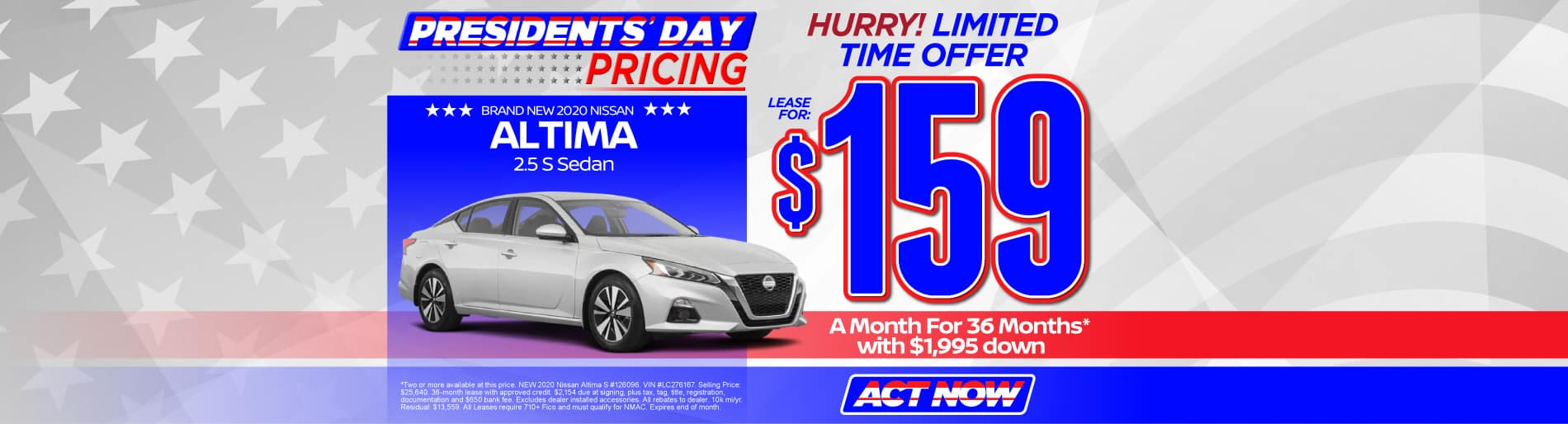 2020 Nissan Altima $159/mo - view inventory