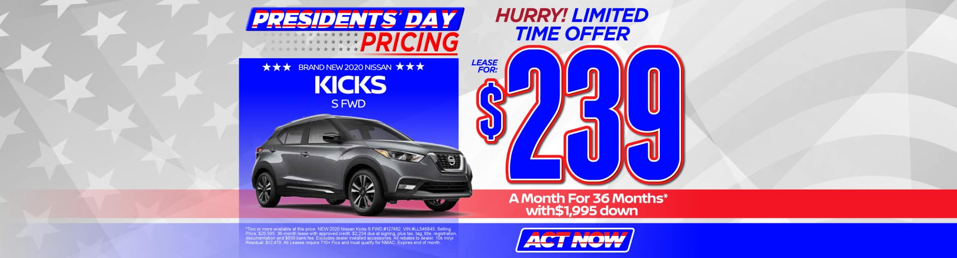 2020 Nissan Kicks $239/mo - view inventory