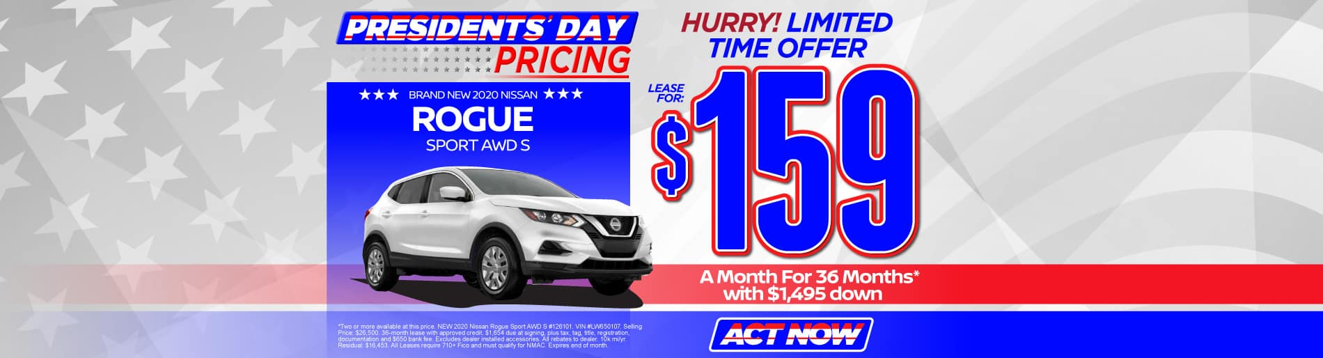2020 Rogue Sport $159/mo - view inventory