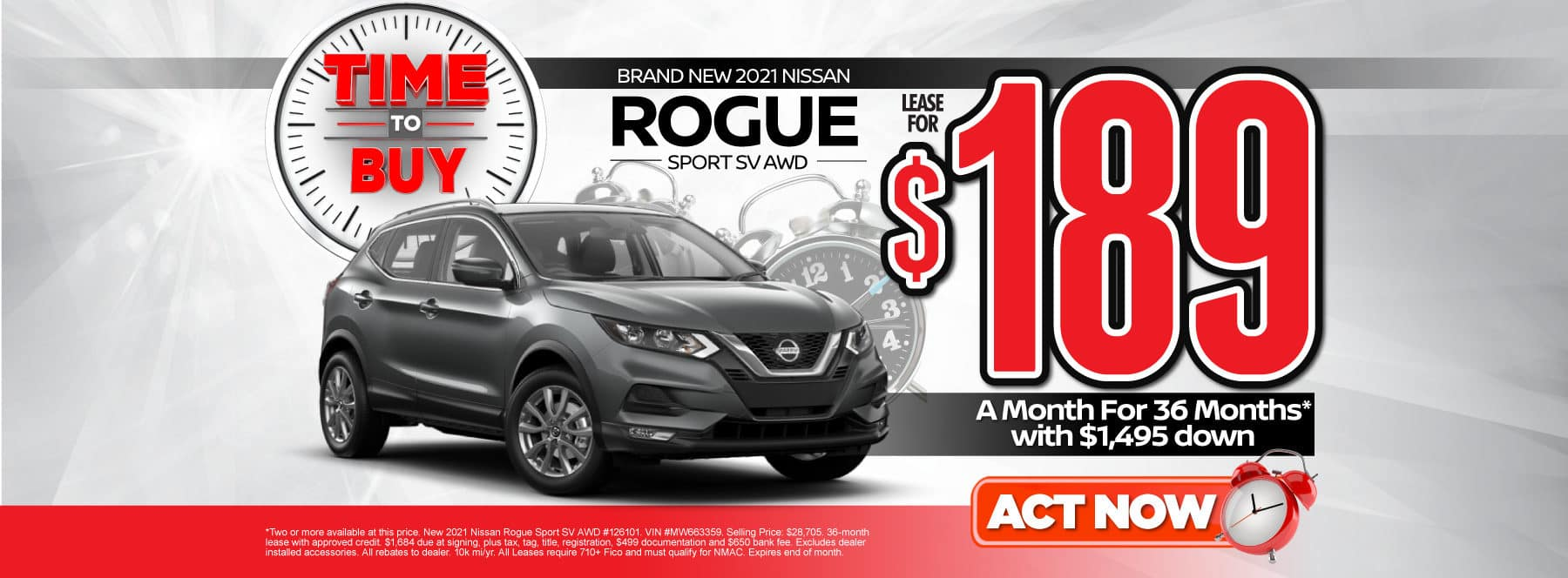 New 2021 Nissan Rogue Sport | Lease for $189 a month | Act Now