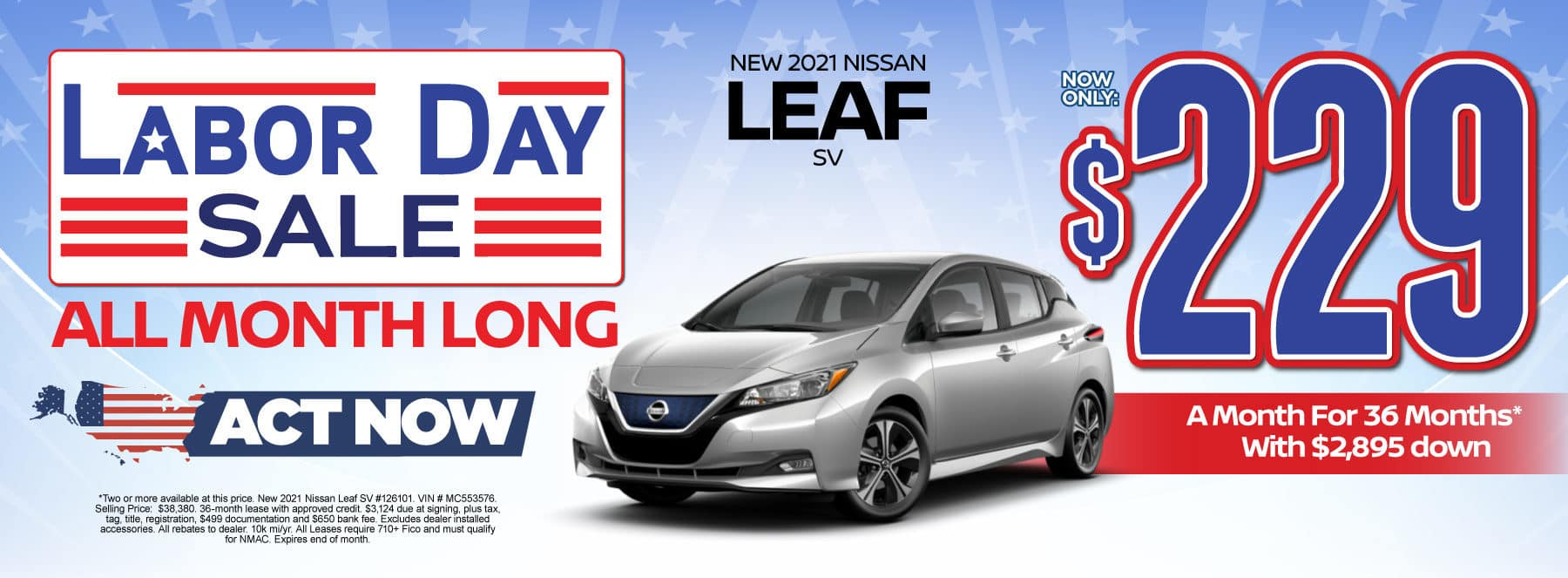 New 2021 Nissan Leaf - Now only $229 a month - Act Now