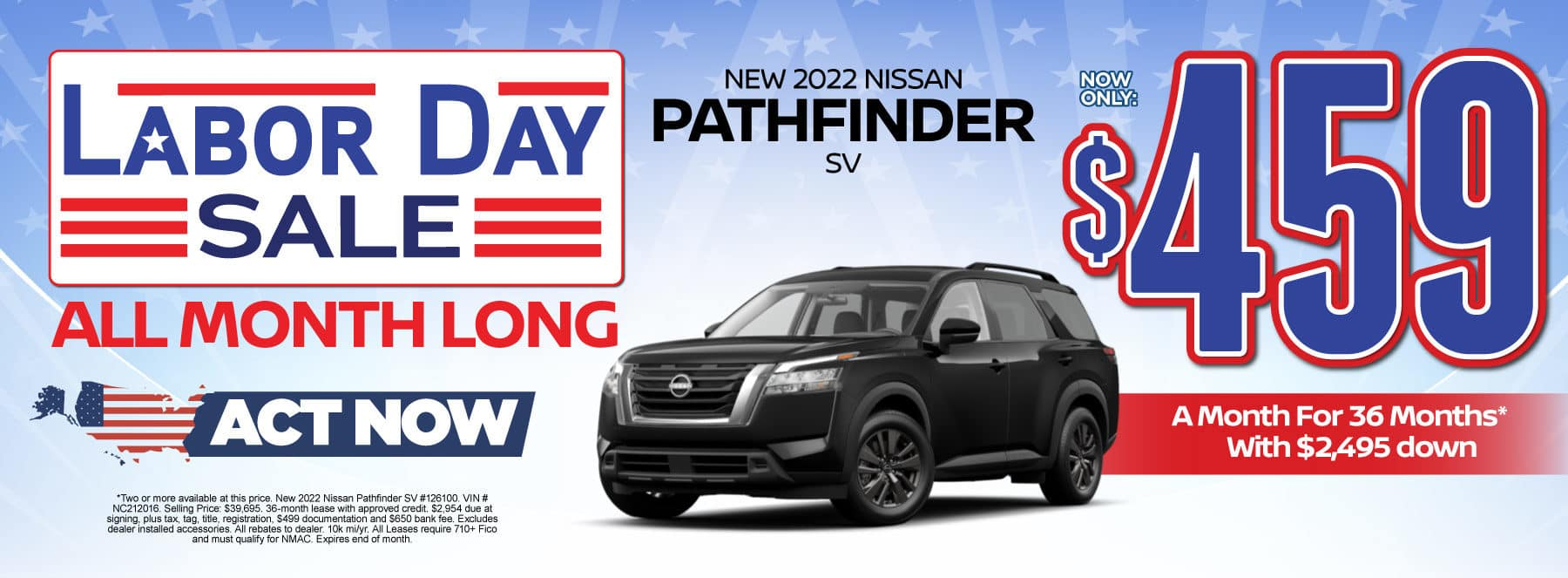 New 2022 Nissan Pathfinder - Now only $459 a month - Act Now