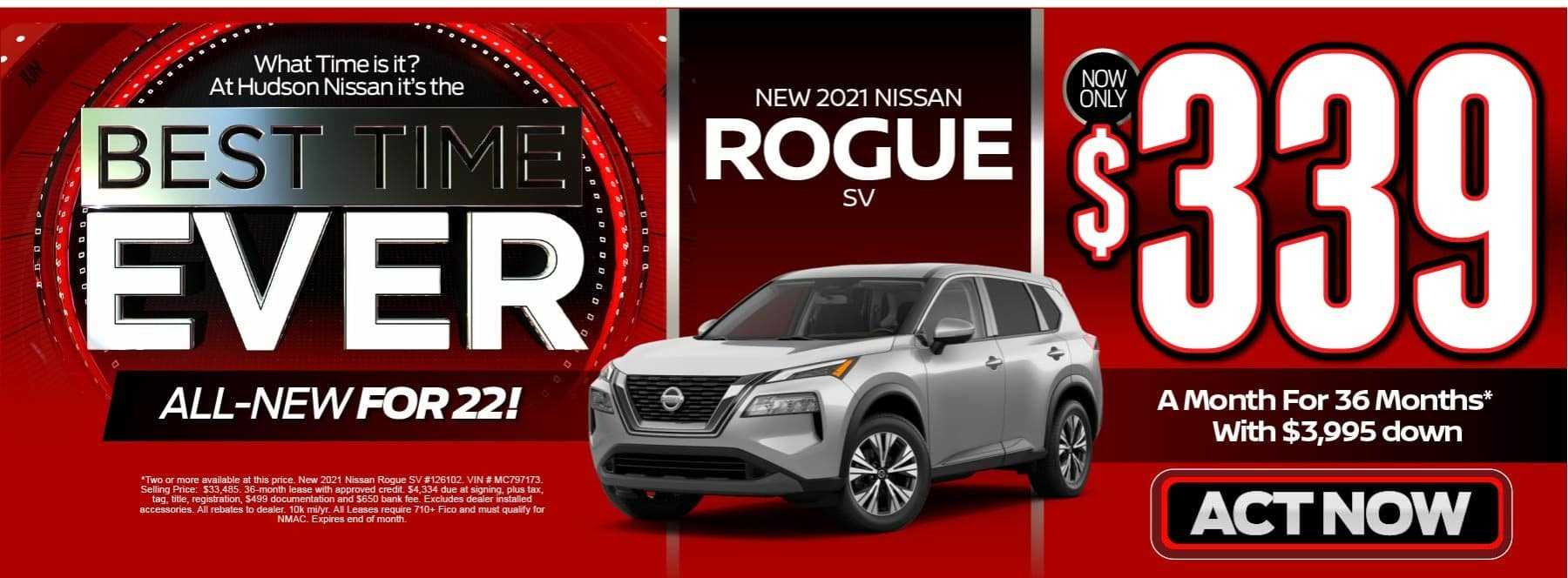 New 2021 Nissan Rogue - Now only $339 a month - Act Now