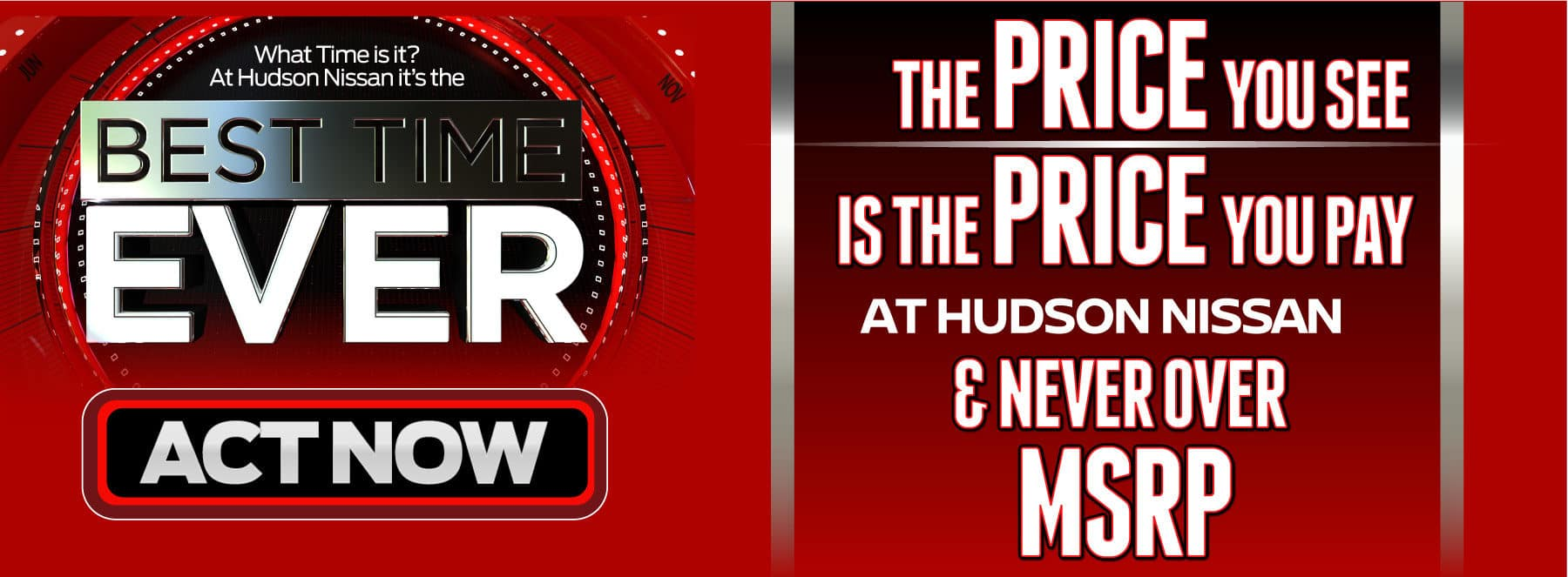 The PRICE you see is the PRICE you pay at Hudson Nissan! And Never Over MSRP!