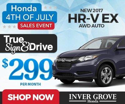 New 2017 Honda HR-V Special