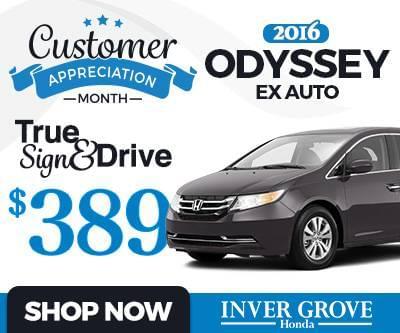 New 2016 Honda Odyssey EX Special