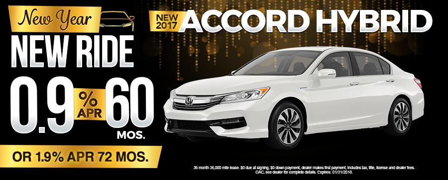 New 2017 Honda Accord Finance Special