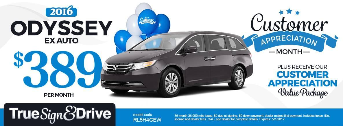 2016 Odyssey Lease Special