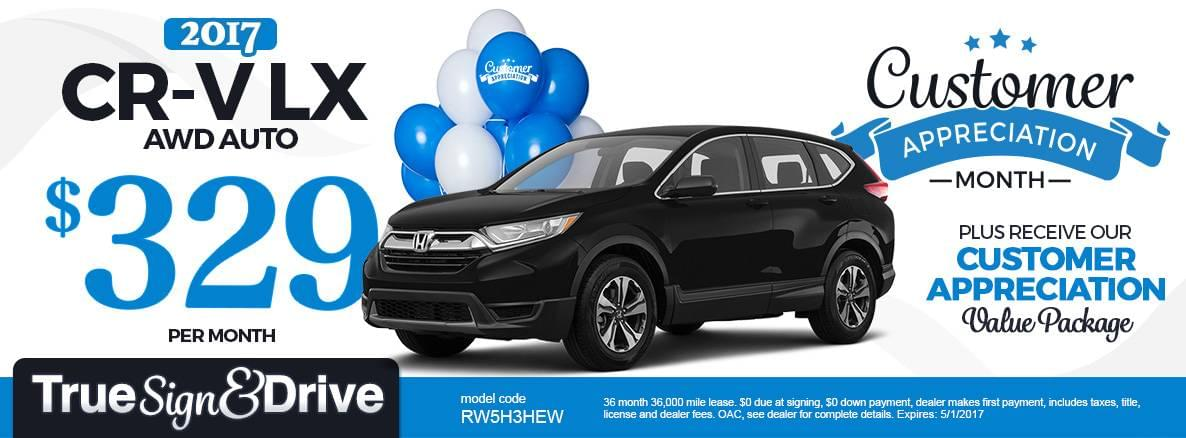 2017 CR-V LX Lease Special