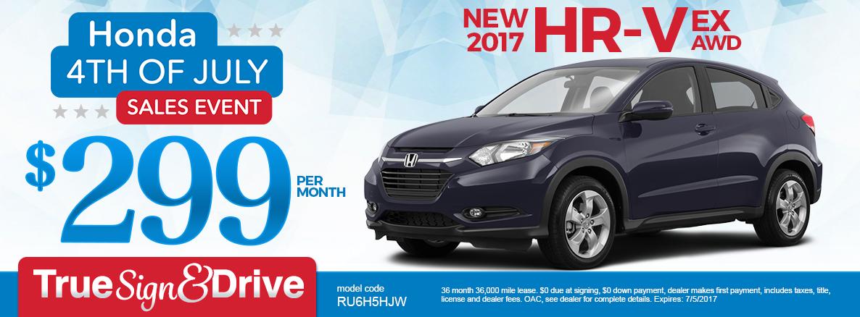2017 HR-V Lease Special
