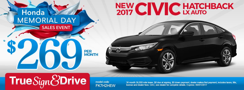 Honda Memorial Day Sale 2017 >> Igh Sp Memorialday Civic Hatchback Lx V1 Inver Grove Honda