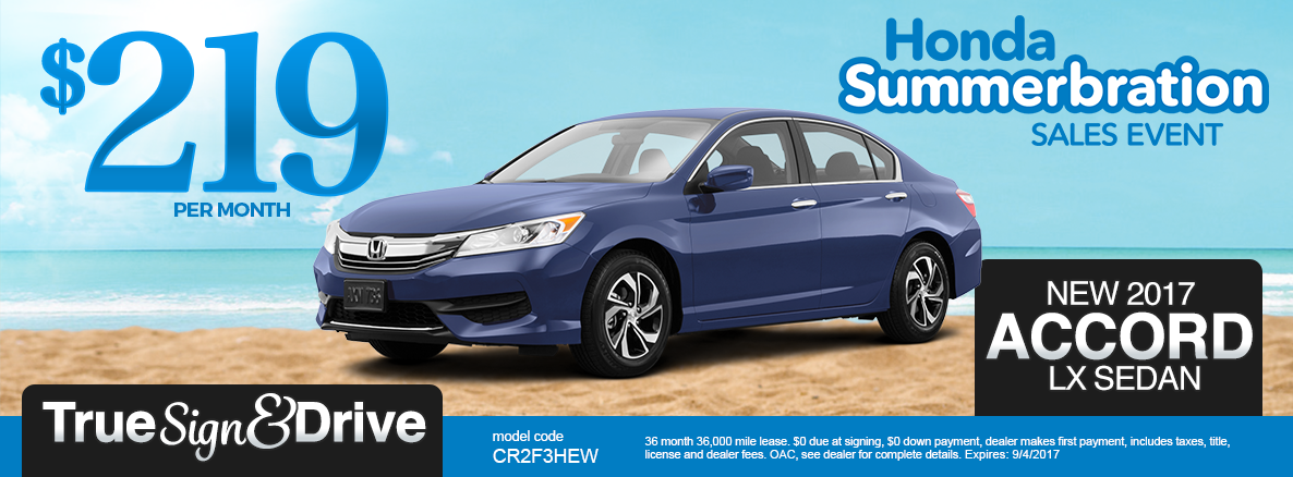 New honda lease specials mn civic accord cr v fit for Honda accord lease price
