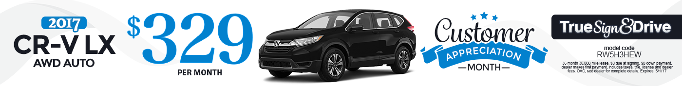 New 2017 Honda CR-V LX Lease Special