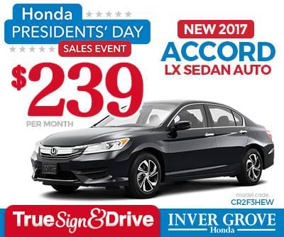 Honda Ridgeline Lease >> New Honda Accord Lease Special Mn Minneapolis St Paul