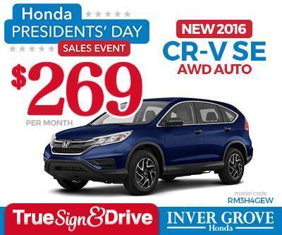 New honda cr v lease special mn minneapolis st paul for Inver grove honda coupons