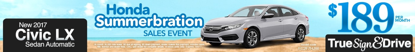 New 2017 Honda Civic LX Lease Special