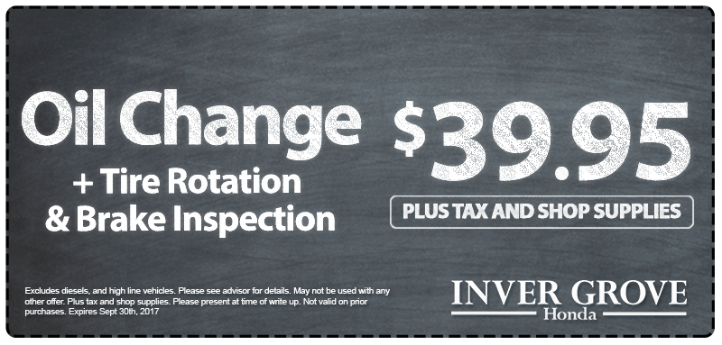 Honda Back to School Oil Change Service Special