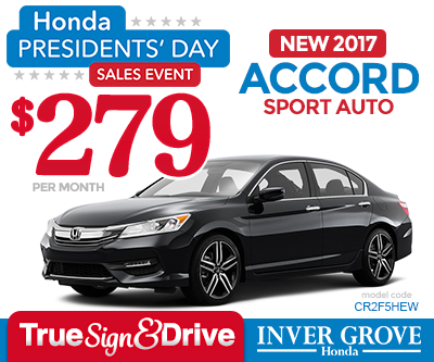 New honda accord lease special mn minneapolis st paul for Inver grove honda coupons