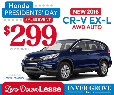 Honda cr v ex l lease deals lamoureph blog for Inver grove honda coupons