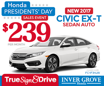 New 2016 Civic LX-P Coupe Special