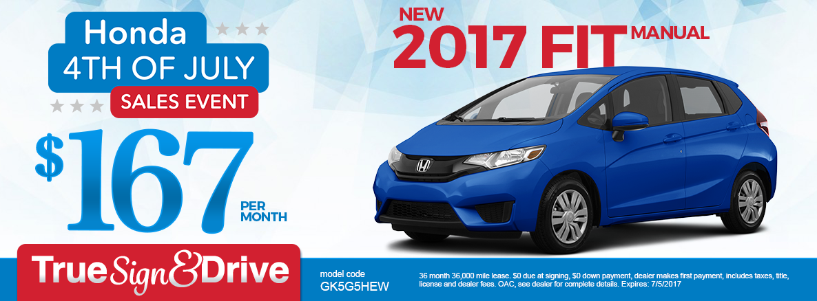 2017 Fit Lease Special