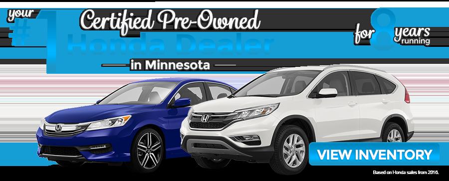 Honda new used car dealer serving minneapolis st autos post for Certified honda dealership