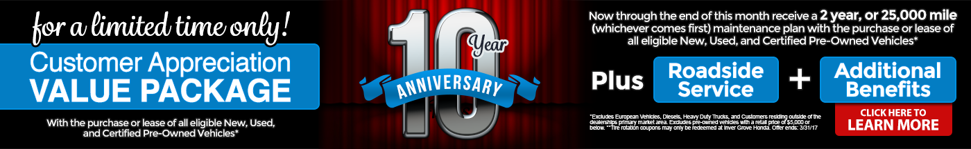 10 Year Anniversary Sales Event