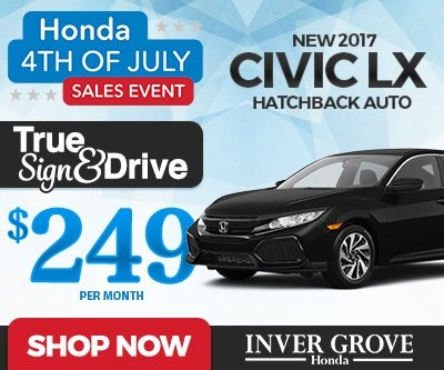 New 2017 Civic Hatchback Special